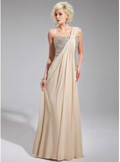 Champagne Formal Evening Dress Vintage
