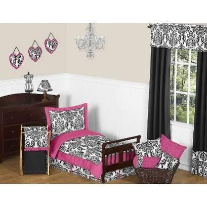 Isabella Hot Pink Toddler Bedding Set
