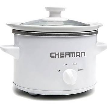 Chefman - 1-1/2-Quart Slow Cooker - White