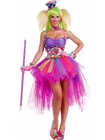 Women's Tutu Lulu The Clown Sexy Costume