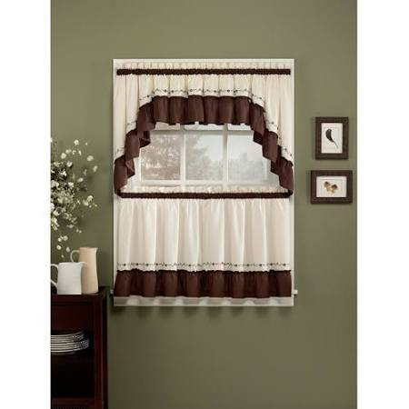 CHF You Jayden Tier Curtain Pair - 60''