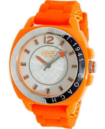 Coach Quartz White Dial Silicone Watch