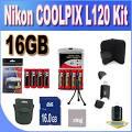 BVI Nikon <b>Coolpix L120</b> 16GB Accessory Saver Kit 16GB SDHC Memory ...