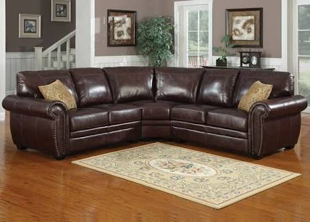 AC Pacific 3 PC Louis Dark Brown Leather