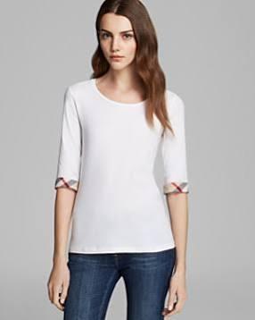 Burberry Brit Scoop Neck Three Quarter