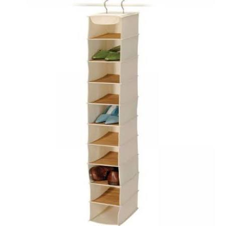 Canvas 10 Shelf Shoe Organizer- Set of