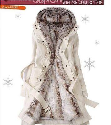 Women Warm Winter Coat Hood Parka Overcoat