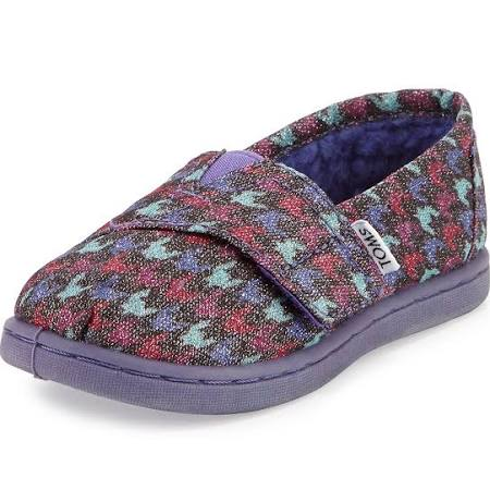 TOMS Glimmer Houndstooth Canvas Slipper