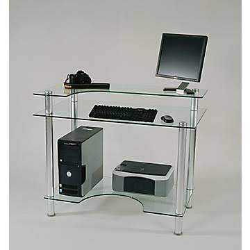 Tier One CUT-106 Clear Glass Computer