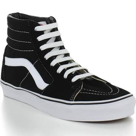 Vans SK8 Hi Black White Skate Shoes