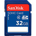 SanDisk Flash memory <b>card</b> - <b>32 GB</b> SDHC - Class 4