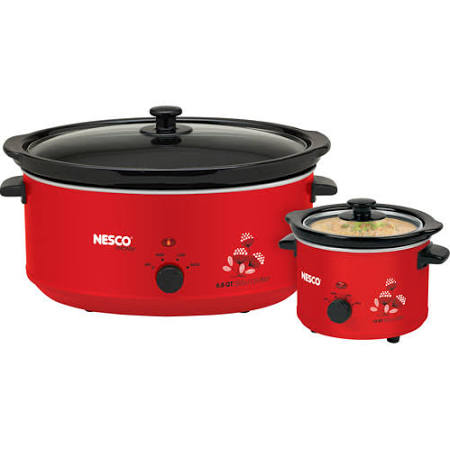 Nesco Slow Cooker Combo Set Red SC-61W