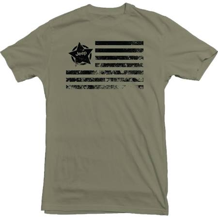 Jeep Star Flag Military Green T-Shirt