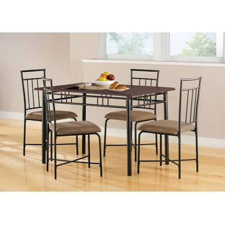 Mainstays 5-Piece Wood and Metal Dining