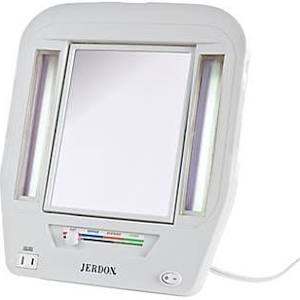 Jerdon 5X/1X Euro Lighted Makeup Mirror