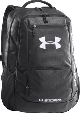 Under Armour Hustle Backpack - Black/Steel/Steel