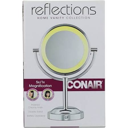 Conair 5x/1x Double-Sided Lighted Makeup