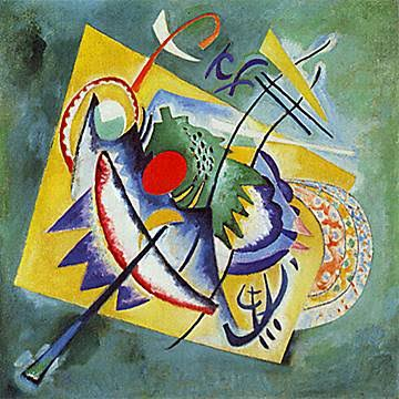 'Red Oval' by Wassily Kandinsky Painting