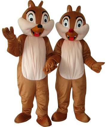 Chip and Dale Chipmunk Squirrel 2 Pcs