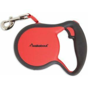 Petmate 02397 Walkabout Retractable Leash Red - Extra Small