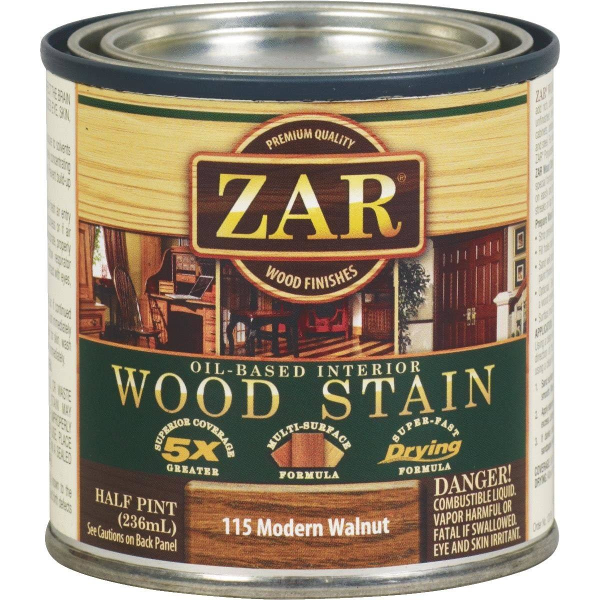 Zar Wood Stain - Modern Walnut, 0.5 Pint