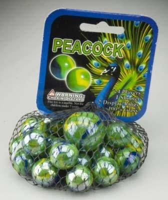 Peacock Marbles - Multi-Coloured