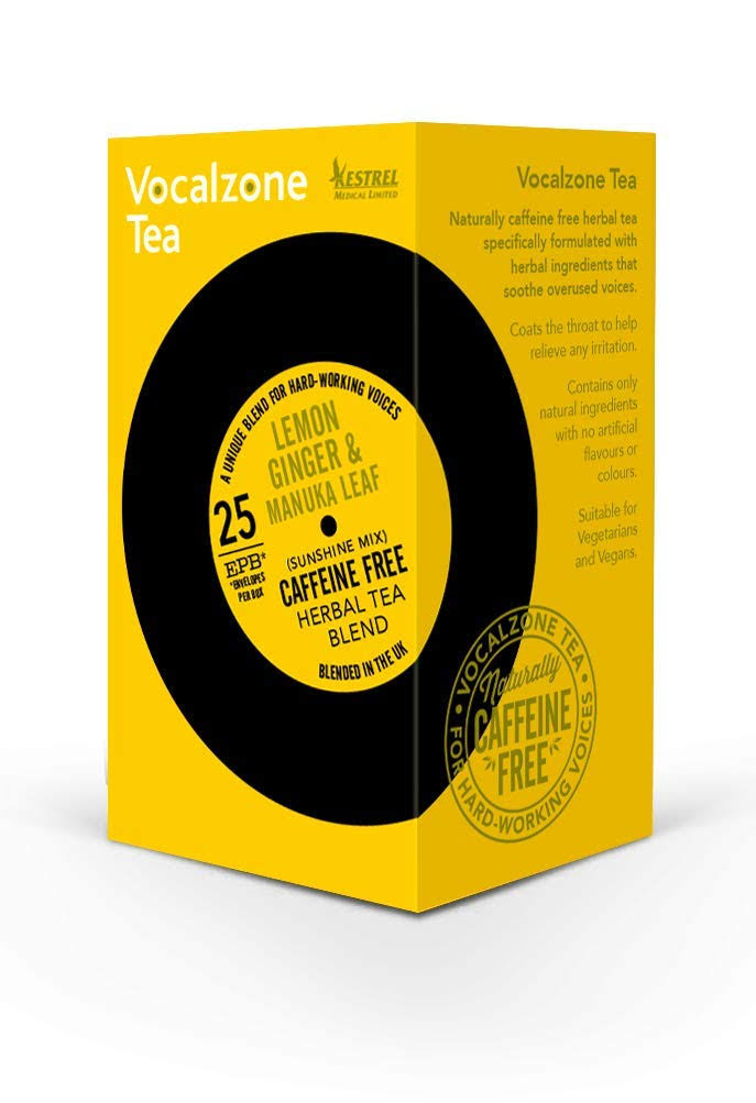 Vocalzone Lemon Ginger Manuka Leaf Tea - 25 Bags