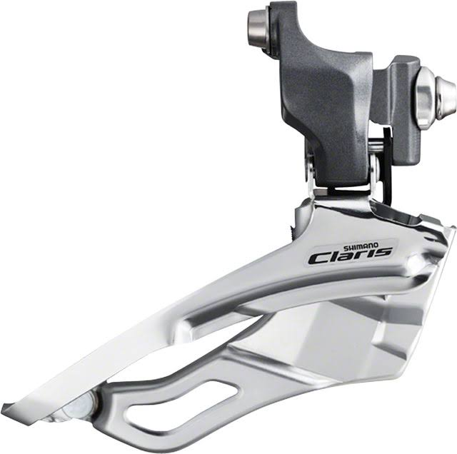 Shimano FD-2403 Claris Braze On Front Derailleur - Silver, 3x8 Speed