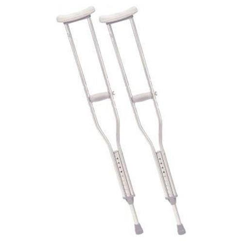 Drive Medical Aluminum Crutch with Comfortable Underarm Pad and Handgrip - Adult