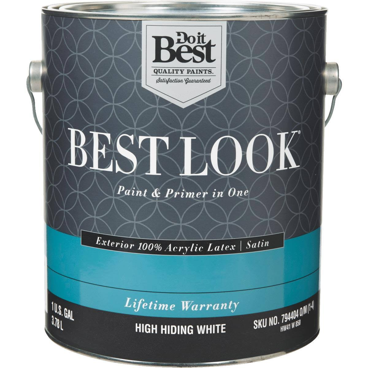 - HW41W0850-16 Best Look 100% Acrylic Latex Paint & Primer in One Satin Exterior House Paint