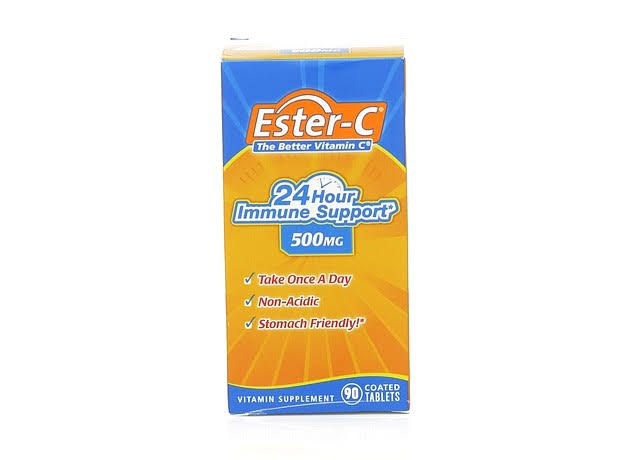 Ester C Better Vitamin C 24 Hour Immune Support Coated Tablet Supplement - 500mg, 90ct