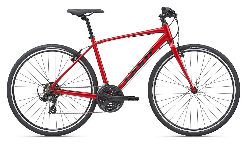 Giant Escape 3 2020 Hybrid Bike - Metallic Red