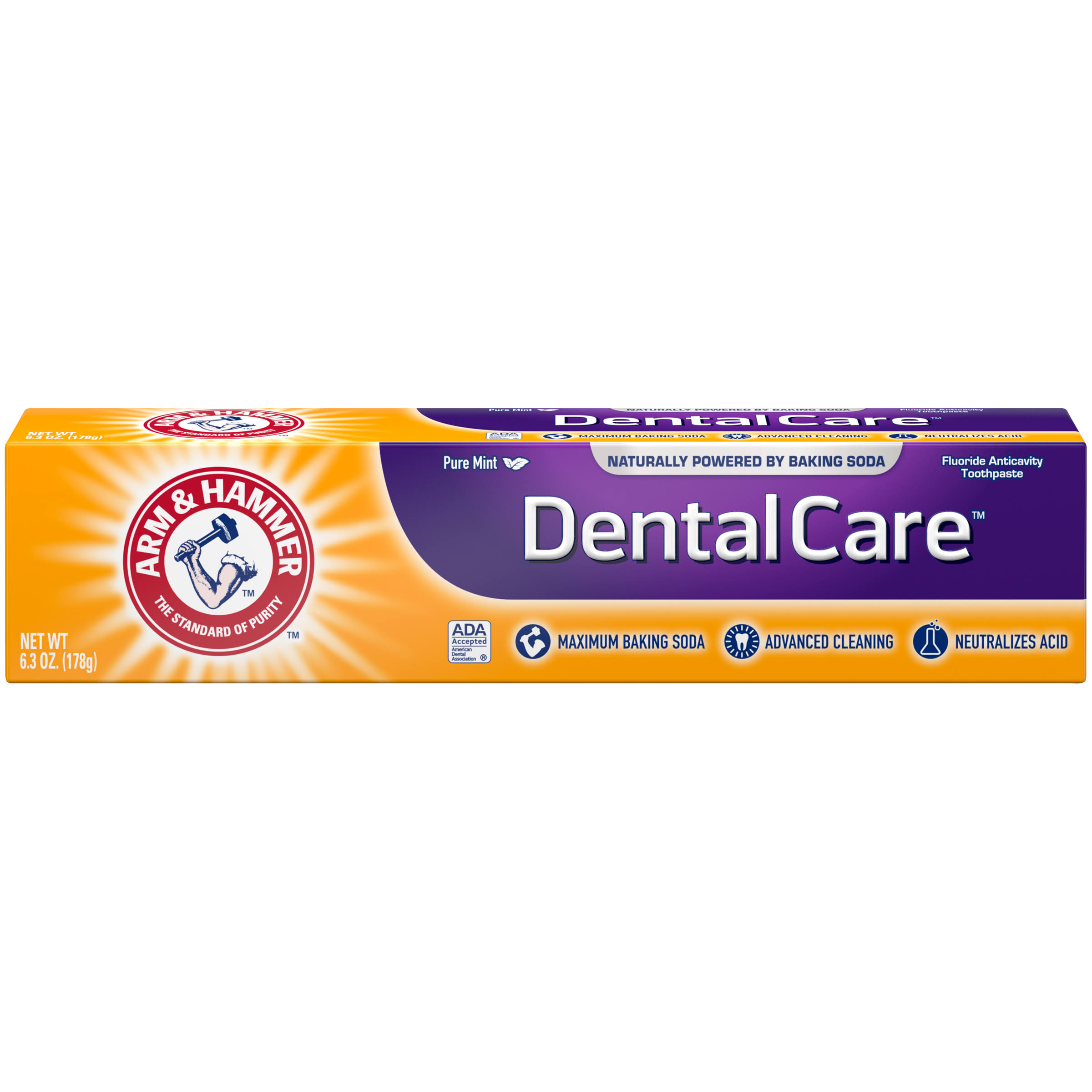Arm and Hammer Dental Care Advance Cleaning Daily Fluoride Toothpaste - with Baking Soda, Fresh Mint