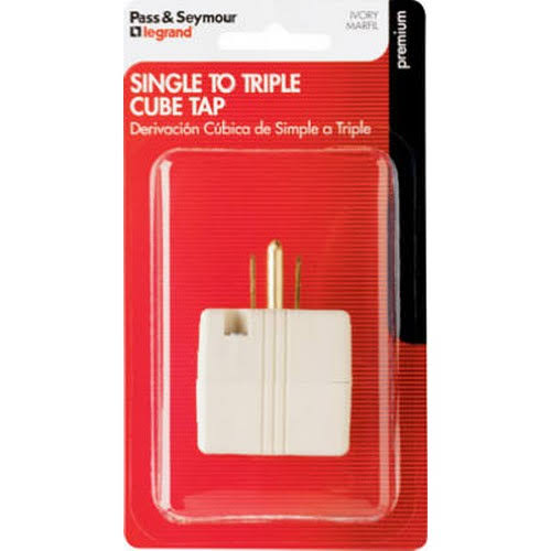 Pass & Seymour Grounded Triple Cube Adapter
