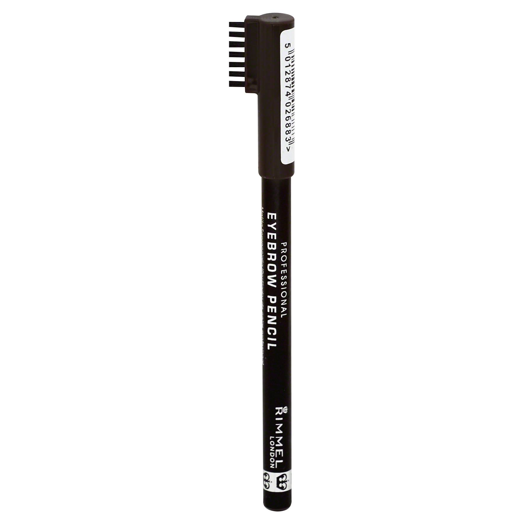 Rimmel London Professional Eyebrow Pencil - 004 Black Brown, 1.4g