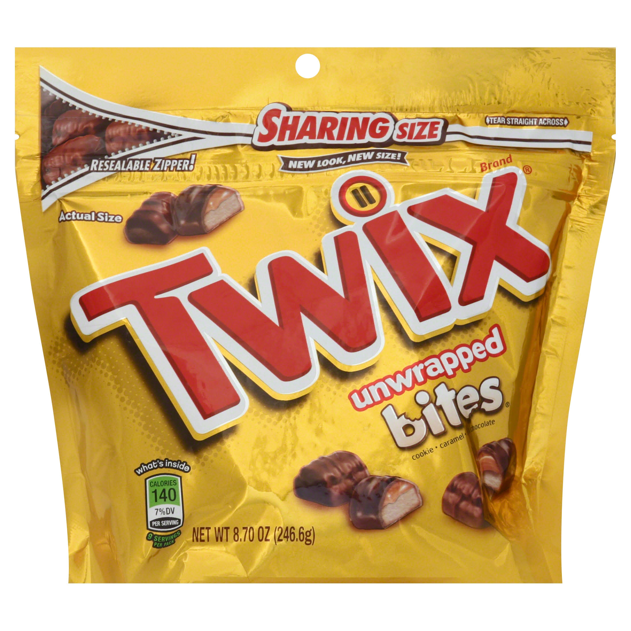 Twix Unwrapped Bites Sharing Size Candy - 8.7oz