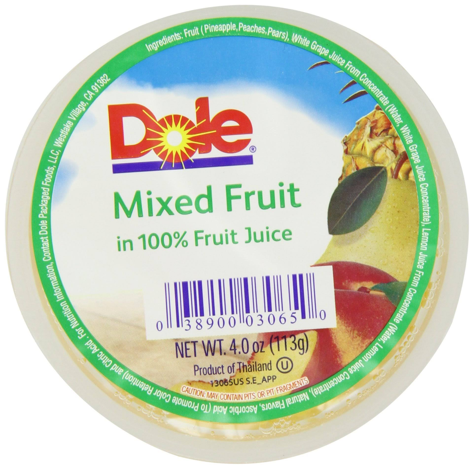 Dole in 100% Fruit Juice Mixed Fruit - 4 oz