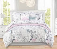 Lavender And Grey Bedding by Paris Themed Bedding