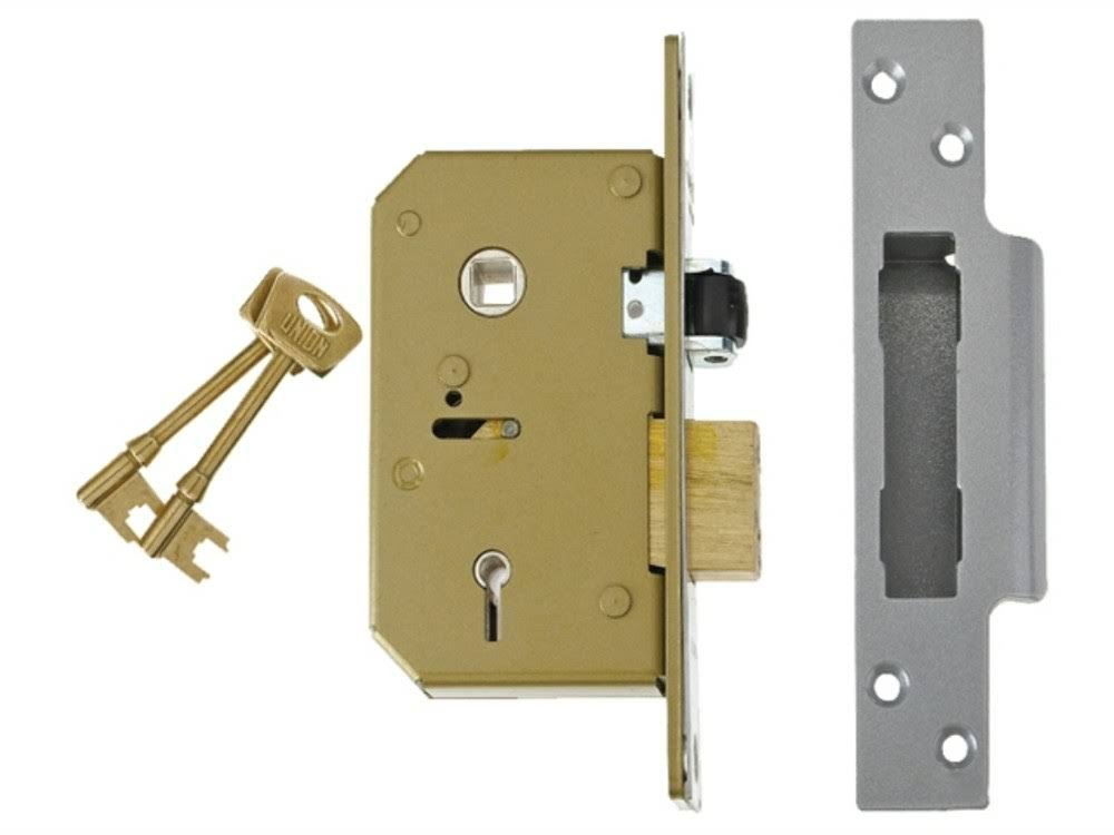 Union C Series 5 Lever Brass Sash Lock - 67mm
