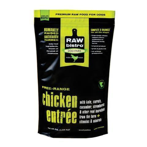 Raw Bistro Chicken Patties for Dogs - 3lbs