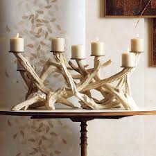 Driftwood Christmas Trees For Sale by Roost Natural Ivory Horizontal Driftwood Candelabra U0026 Pillar