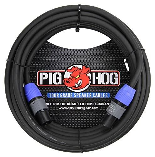 Pig Hog PHSC50SPK Speakon Cable - Black, 50'