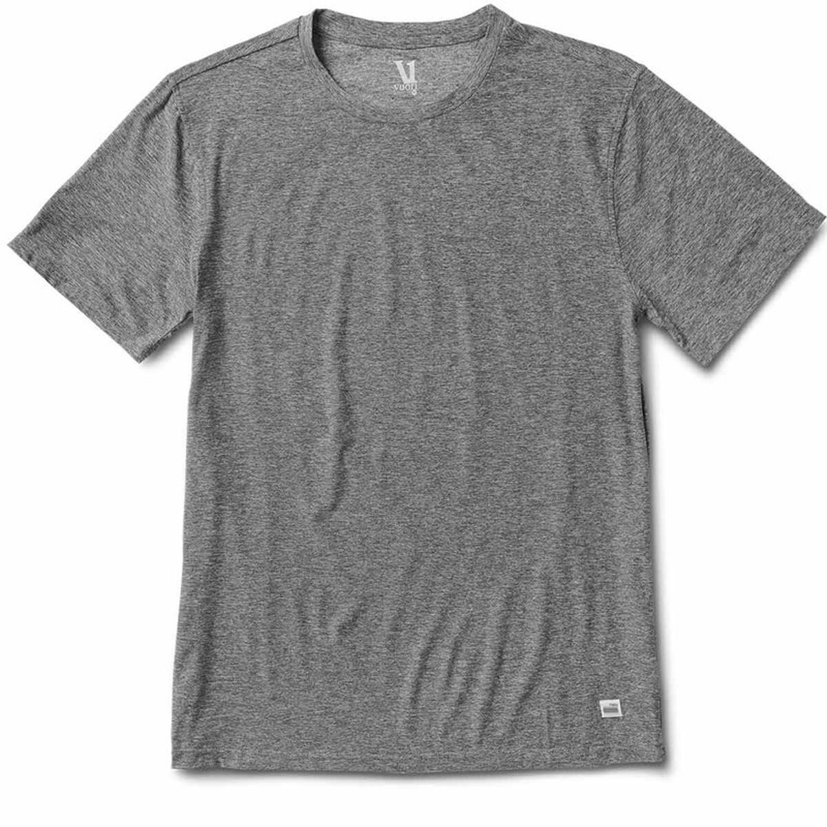 Vuori Men's Heather Grey Strato Tech Tee - L