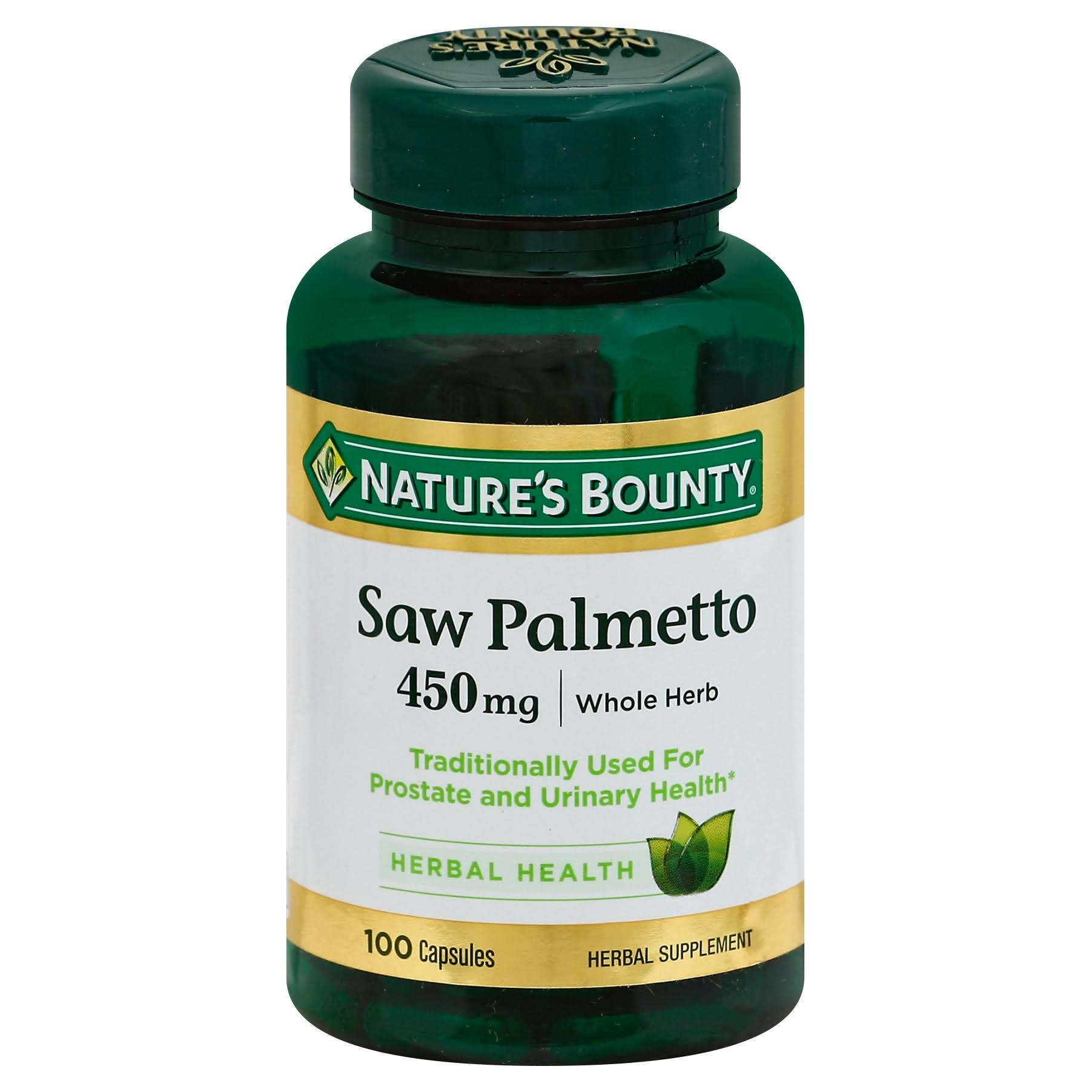 Nature's Bounty Saw Palmetto Supplement - 450mg, 100 Caps