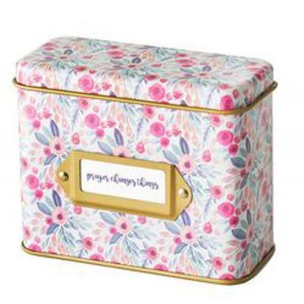 Prayer Cards in Tin Box - Floral