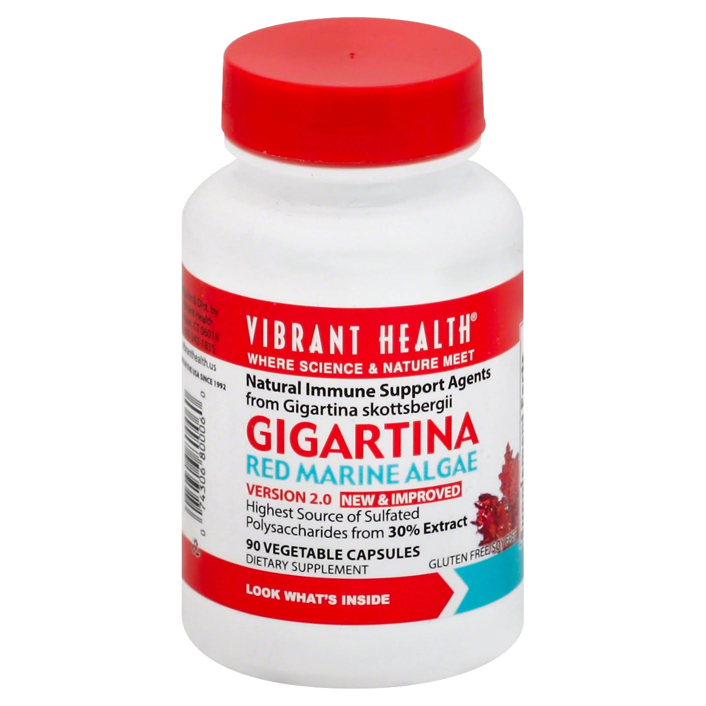 Vibrant Health Gigartina Red Marine Algae - 90 Vegetable Capsules