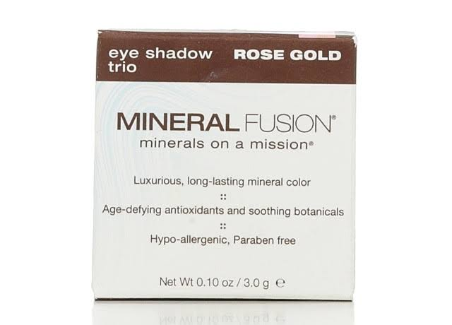 Mineral Fusion Eye Shadow Trio - Rose Gold, 3g