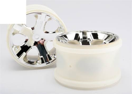 Traxxas Rear All Star Wheels - Chrome, 2.8""
