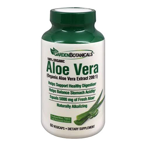 Garden Botanicals Aloe Vera Dietary Supplement - 60 Capsules