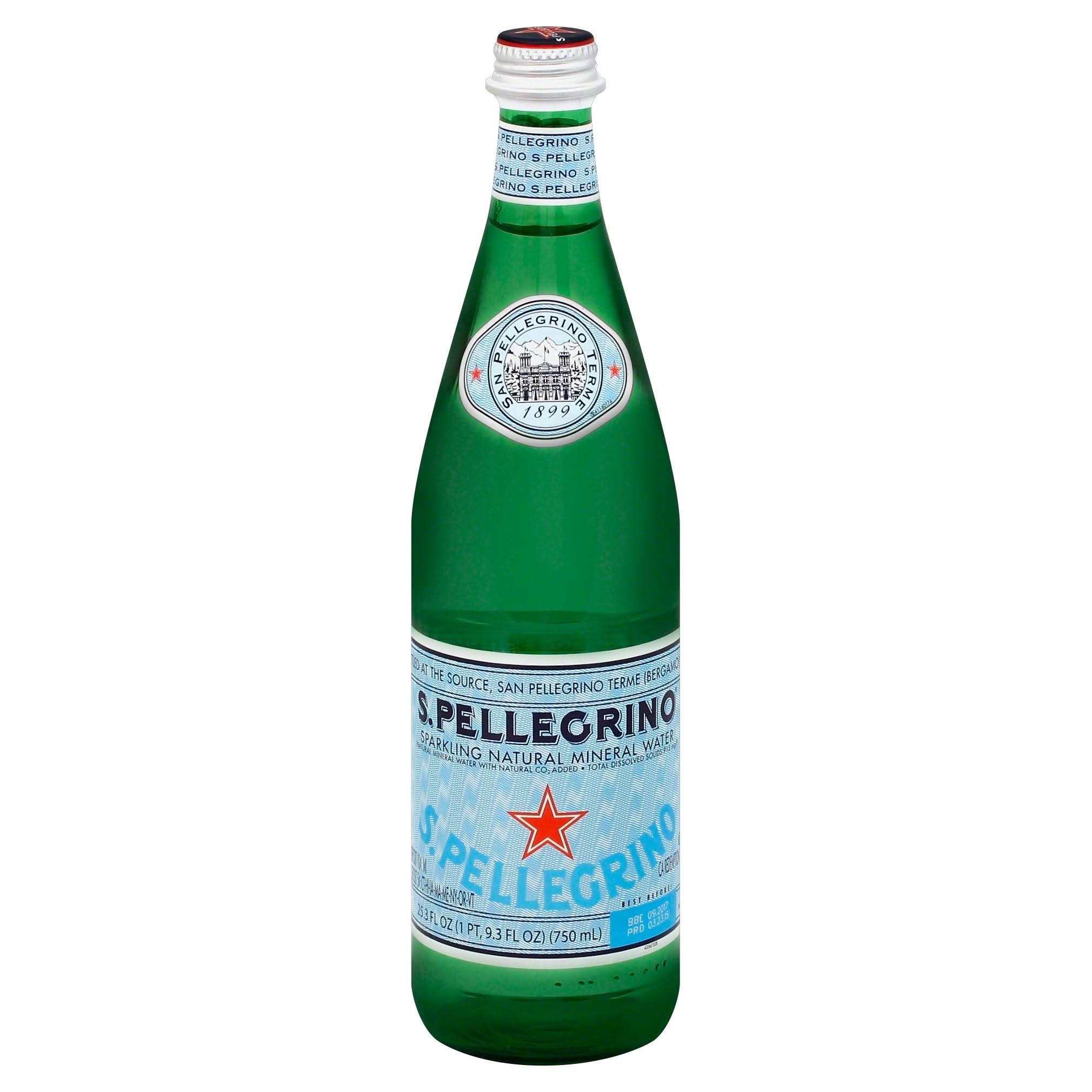 San Pellegrino Sparkling Natural Mineral Water - 750ml